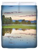 Country Sunset Reflections Duvet Cover