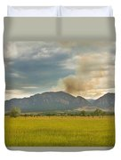 Country View Of The Flagstaff Fire Duvet Cover