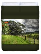 Countryside With Old Fig Tree Duvet Cover