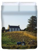 County Cork, Ireland Farmer On Tractor Duvet Cover