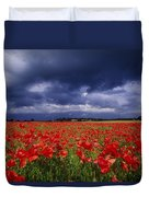 County Kildare, Ireland Poppy Field Duvet Cover