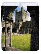 County Kilkenny, Ireland Jerpoint Abbey Duvet Cover