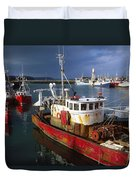 County Waterford, Ireland Fishing Boats Duvet Cover