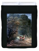 Courbet: Hunted Deer, 1866 Duvet Cover