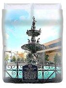 Court Square Fountain Duvet Cover