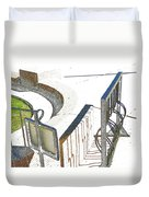 Courthouse Bicycle Rack Duvet Cover
