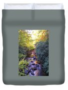 Courthouse River In The Fall 3 Duvet Cover