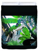 Courtyard Feelings Cafe Nola Duvet Cover
