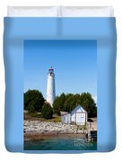 Cove Island Lighthouse Duvet Cover