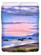 Cove On The Lost Coast Duvet Cover