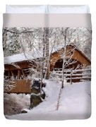 Covered Bridge At Olmsted Falls - 2 Duvet Cover