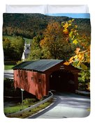 Covered Bridge In Vermont Duvet Cover