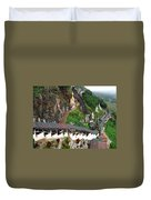 Covered Stairway To The Pindaya Caves Duvet Cover