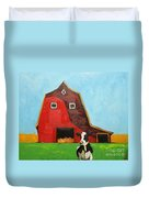 Cow And Barn 4 Duvet Cover