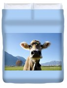 Cow With A Bell Duvet Cover