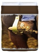 Cowboy Boot Duvet Cover by Carson Ganci
