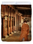 Cowboy In Old West Town Duvet Cover