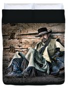 Cowboy Stare-down Duvet Cover