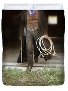 Cowboy With Guns And Rope Duvet Cover