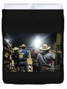 Cowboys At Rodeo Duvet Cover