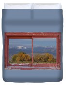 Cows Life Colorado Autumn Rocky Mountains Picture Window Art Duvet Cover