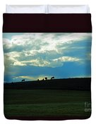 Cows On The Hill Duvet Cover