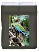 Coy Parrot Duvet Cover
