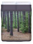 Cozy Conifer Forest Duvet Cover
