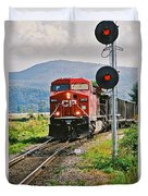 Cp Coal Train And Signal Duvet Cover