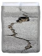 Crack In The Street Duvet Cover
