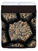 Cracked, Dried Out Mud, Mokolodi Nature Duvet Cover