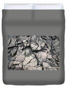 Cracked Rocks On Shore Duvet Cover