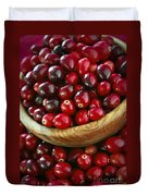 Cranberries In A Bowl Duvet Cover