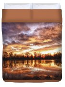 Crane Hollow Sunrise Boulder County Colorado Hdr Duvet Cover by James BO  Insogna