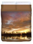 Crane Hollow Sunrise Duvet Cover