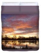 Crane Hollow Sunrise Reflections Duvet Cover