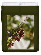 Crape Myrtle Fruit Duvet Cover