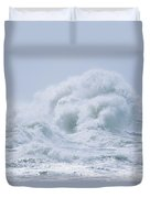 Crashing Backwash Waves At Cape Duvet Cover