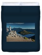 Crater Lake Afternoon Duvet Cover