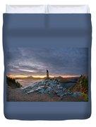 Crater Lake Autumn Dawn Duvet Cover