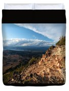 Crater Lake Mountains Duvet Cover