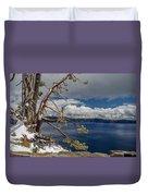Crater Lake Pine Duvet Cover