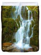 Crater Lake Vidae Falls Duvet Cover