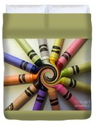 Crayons Duvet Cover