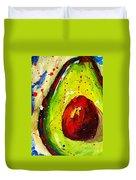 Crazy Avocado 2 - Modern Art Duvet Cover