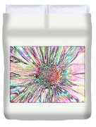 Crazy Daisy Colored Pencil Photoart Duvet Cover