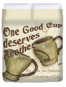 Cream Coffee 2 Duvet Cover