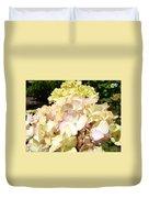 Cream Pink Hydrangea Flowers Art Prints Floral Duvet Cover
