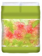 Creamsicle Hibiscus Duvet Cover