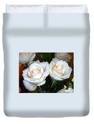 Creamy Roses I Duvet Cover